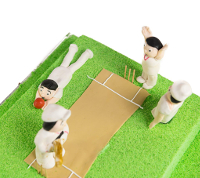 Toys playing cricket cropped